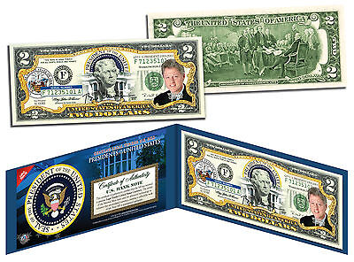 BILL CLINTON * President 1993-2001 * Colorized $2 Bill US Genuine Legal Tender