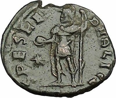 CONSTANTIUS II Constantine the Great son with globe Ancient Roman Coin i50712