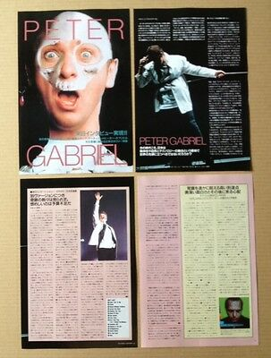 1994 Peter Gabriel 7pg 6 photo JAPAN mag article / press clipping genesis pg05c
