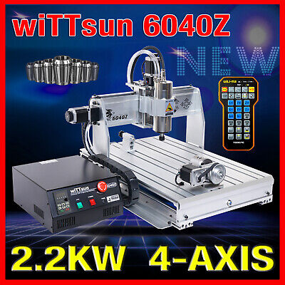 USB Mach3 4 axis 6040 1500W cnc router engraver engraving machine  remote handle