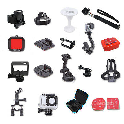 Pack Accessories Case Chest Head Monopod Handlebar F GoPro Hero 5 4 3+ 3 2 GoPro