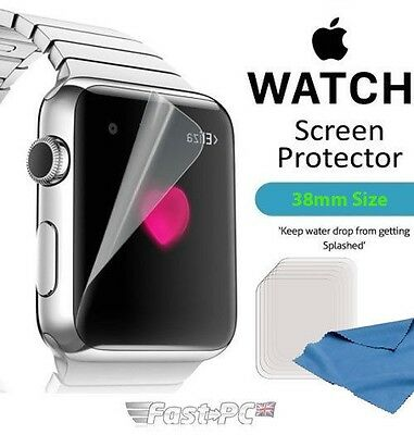 5x Apple Watch 38MM High Quality Clear Front Screen Protectors