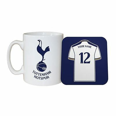 Personalised TOTTENHAM HOTSPUR FC MUG and COASTER Set Football Club Spurs