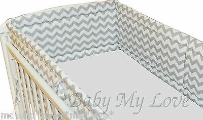 NURSERY  BUMPER  approx.420cm LONG ALL ROUND BUMPER TO FIT BABY COT BED