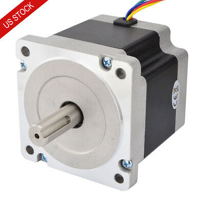 US Ship Nema 34 Stepper Motor 4.5Nm 5.5A 4-wire 14mm Key-way Shaft CNC Lathe