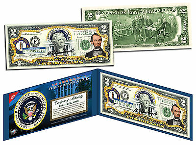 ABRAHAM LINCOLN * President 1861-1865 * Colorized $2 Bill US Legal Tender