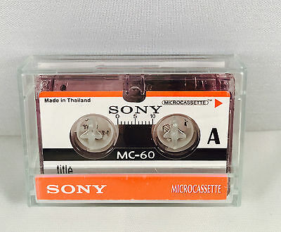 SONY MC60 Microcassette x 1 Dictaphone Tape MC-60 - Brand NEW in UK Micro