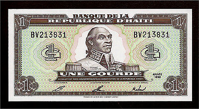 World Paper Money - Haiti 1 Gourde 1993 P259 @ Crisp UNC