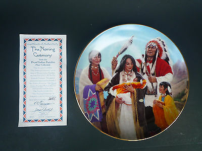 THE NAMING CEREMONY - PROUD INDIAN FAMILIES COLLECTION by K.H. FREEMAN w/ COA