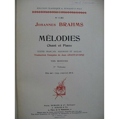 BRAHMS Johannes Mélodies 4 Vol Chant Piano   Partition Sheet Music Spartiti Part