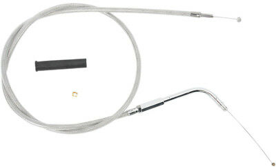 Drag Specialties 44 Inch Braided Stainless Throttle Cable For Harley 0650-0320