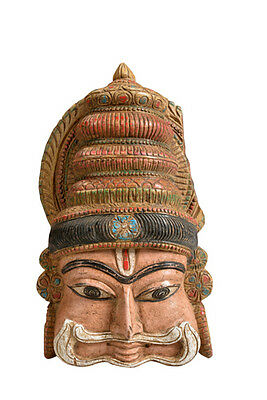 Painted wooden mask sculpture southern India Luxury Park