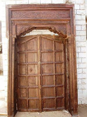 Typical Indian door in bright colors