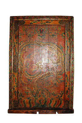 Very rare and beautiful Tibet door. The door is antique and about 120 years old