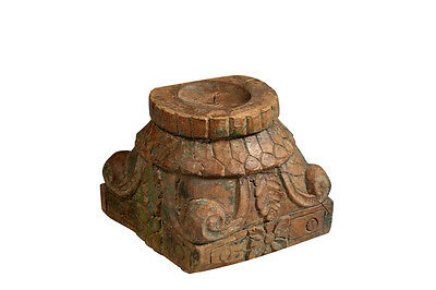 Wooden base around candlesticks India 1935 Luxury Park