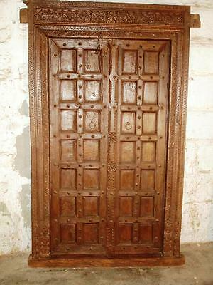 Original antique 100j. ancient Indian entrance door