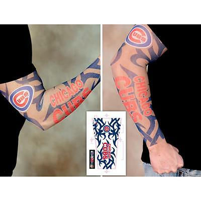 Chicago Cubs Arm Tattoo Sleeve, Unisex, Adult Size
