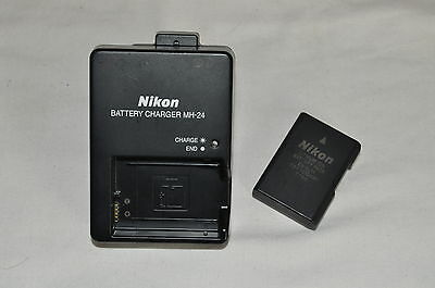 Genuine Nikon Digital SLR D5100 D5200 D5300 Charger and Battery MH-24 / EN-EL14