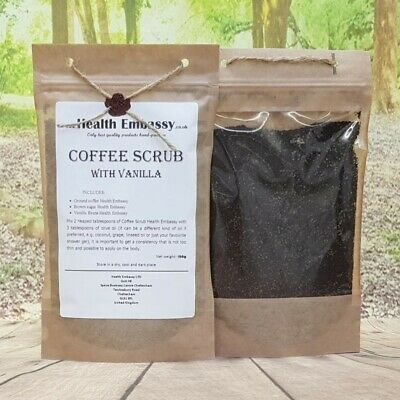 Coffee Scrub 150g with Vanilla Health Embassy.co.uk (peeling, body scrub)