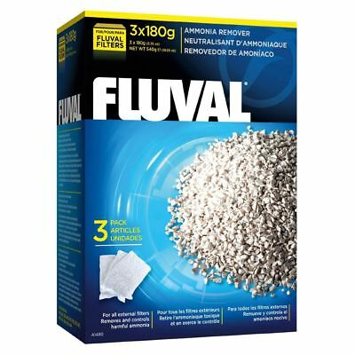 Fluval Ammonia Remover 540g (3x180g) Filter Media *GENUINE*