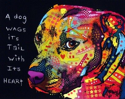 """Gratitude 8""""x10"""" Pit Bull Print - (DR020) - NEW - FREE SHIPPING - Mailed ASAP"""