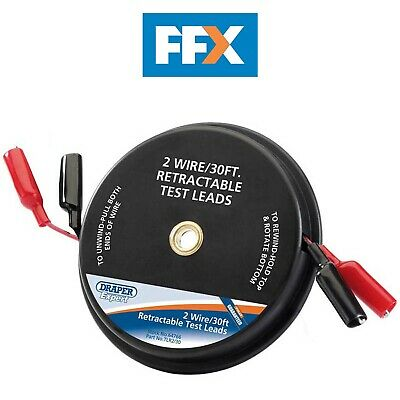 Draper TLR2/30 Expert 30ft 2 Wire Retractable Test Leads