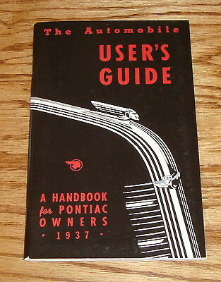 1937 Pontiac Owners Operators Manual Service Guide 37