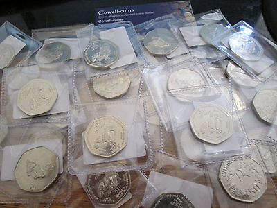 Isle of Man 2015 TT Legends 50p Coin 2017 Gibratar Chistmas fifty various