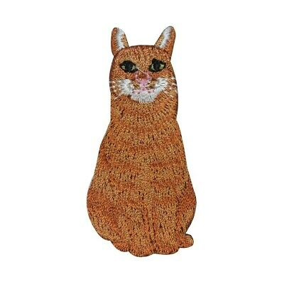 #2513S Calico Cat Sitting Embroidery Iron On Applique Patch