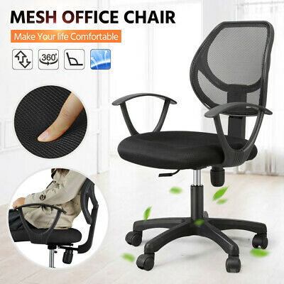 Office Chair Mesh Designer Adjustable Executive Swivel Computer Desk Seat Fabric