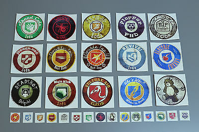 Grunge Perk a Cola labels Largest complete set! Black ops call of duty juggernog