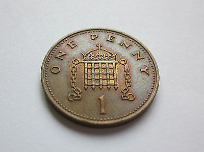 ERROR 1p ONE PENNY PENCE POUND 1984 1 COIN FILLED CHAIN LINK ROYAL MINT  SCARCE