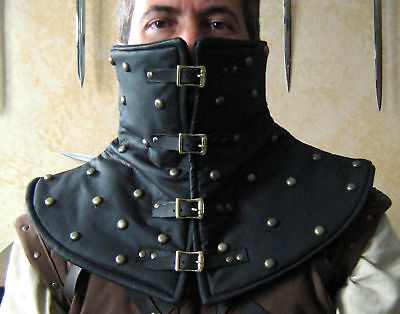 Medieval Armor High Padded Leather Collar