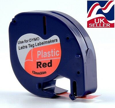 1-100 tape cartridge 91203 red plastic 12mmx4m for DYMO LETRATAG label makers