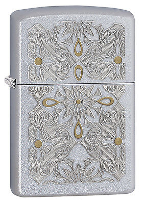 Zippo Windproof Satin Chrome Lighter, Classical Curve, 28457, New In Box