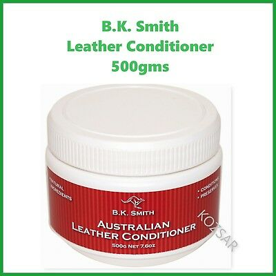 AUSTRALIAN MADE Leather Conditioner - 500gms Multi Purpose - BK Smith