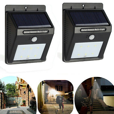 LOT2 Waterproof Outdoor Solar Power PIR Motion Sensor Bright LED Wall Light 2015