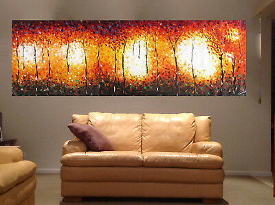 Australia  original Art  Painting modern Bush fire Landscape Huge aboriginal