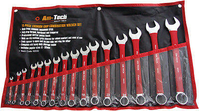 16pc Cushion Grip Combination Wrench Spanner Set New
