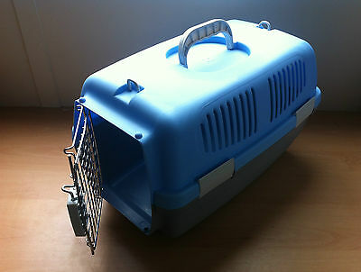 Small Medium Large Animal Pet Carrier Strong Sturdy Plastic Hinged Door Carry