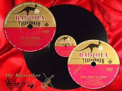 78rpm JOHANN STRAUSS ERNA SACK ROSES FROM THE SOUTH THE BLUE DANUBE RADIOLA 30cm