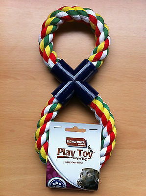 Strong Dog Rope Tug Pull Toy Figure Of 8 Shape Great Value!