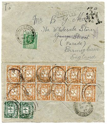 Spectacular 1924-31 postage due frankings - 8 covers from Nigeria