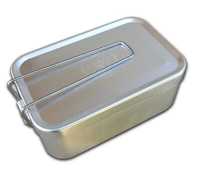ESEE Mess Tin/Survival & First Aid Kit Container w/ Folding Handle & Lid