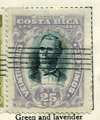 COSTA RICA;    1907 early issue fine used value 25c.