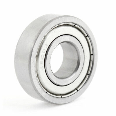 Silver Tone 6200Z Metal Shielded Single Row 10x30x10mm Deep Groove Ball Bearing