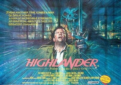 Highlander Repro Film Poster Land
