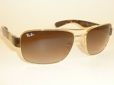 New  RAY BAN  Sunglasses  Gold Frame  RB 3522 001/13  Gradient Brown Lenses 61mm
