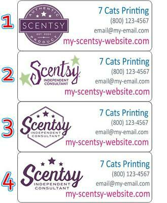 30 Scentsy Return Address Labels Consultant Custom Stickers