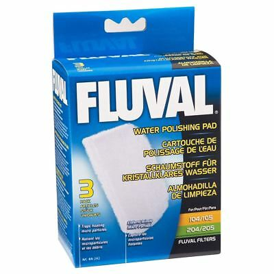 Fluval External Filter Polishing Pad 104/105/204/205 (3 Pack) Filter Media • EUR 7,84